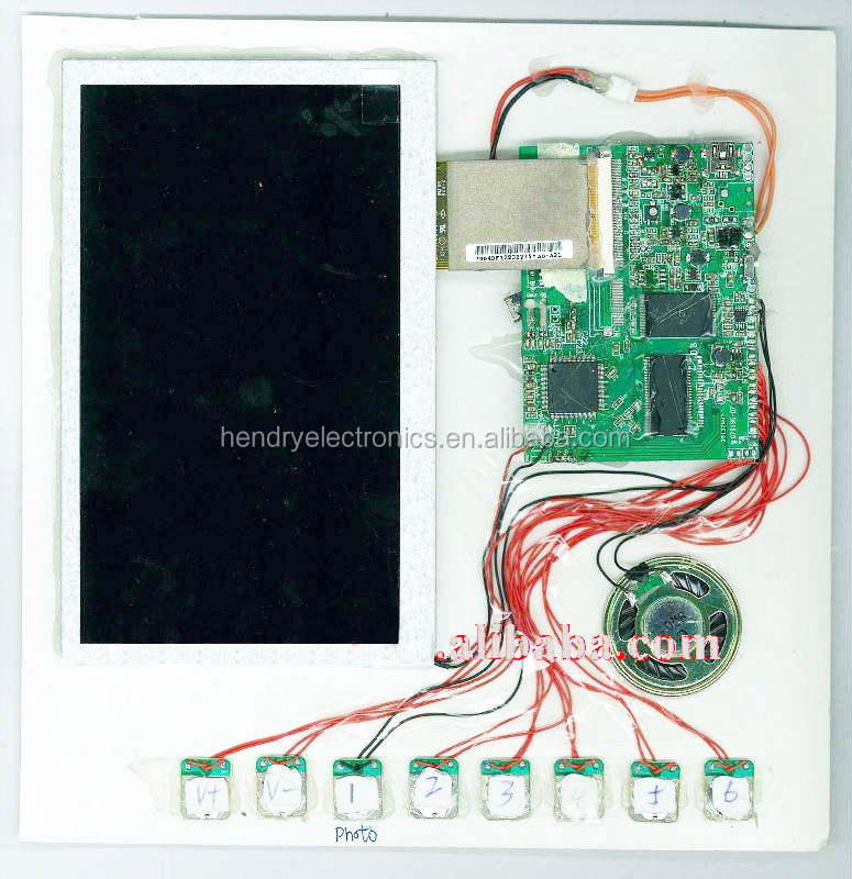 Invitation LCD screen video greeting card module,7-inch tft lcd touch screen module