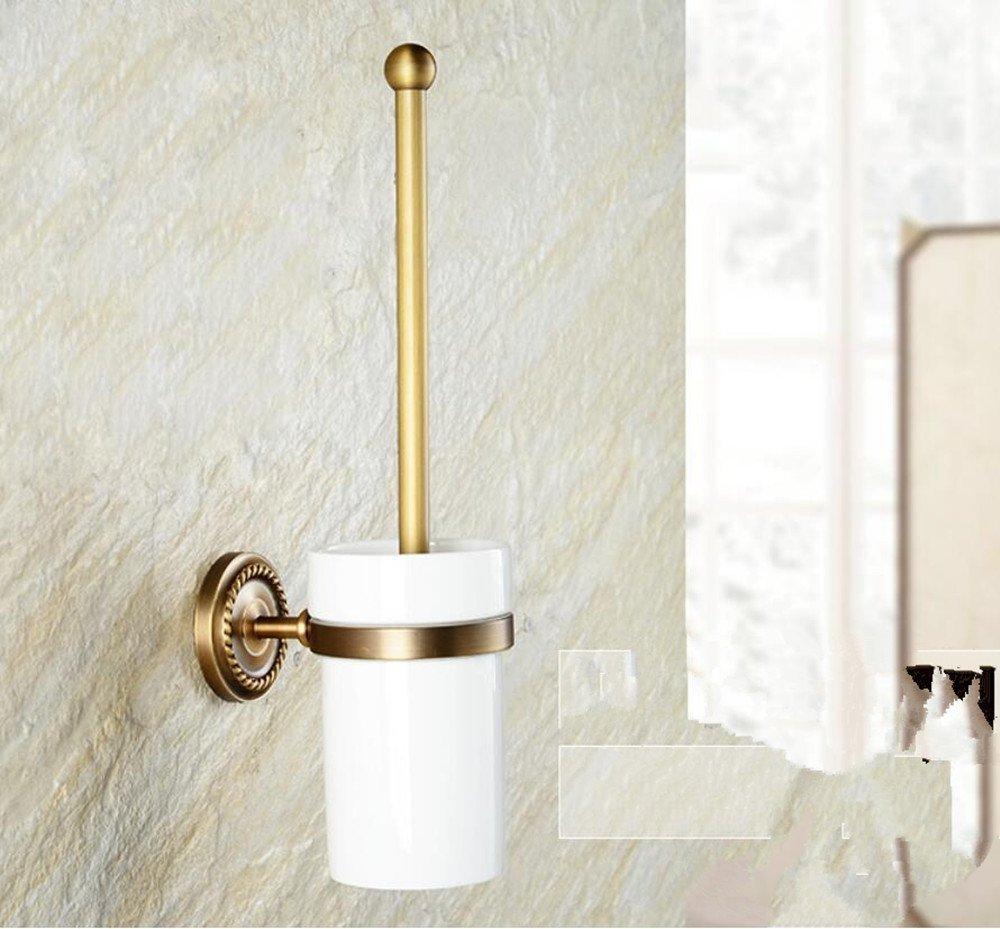 Antique toilet glass,copper Cup holder toilet brush,toilet brush holder,toilet brush toilet European-style toilet brush set,toilet