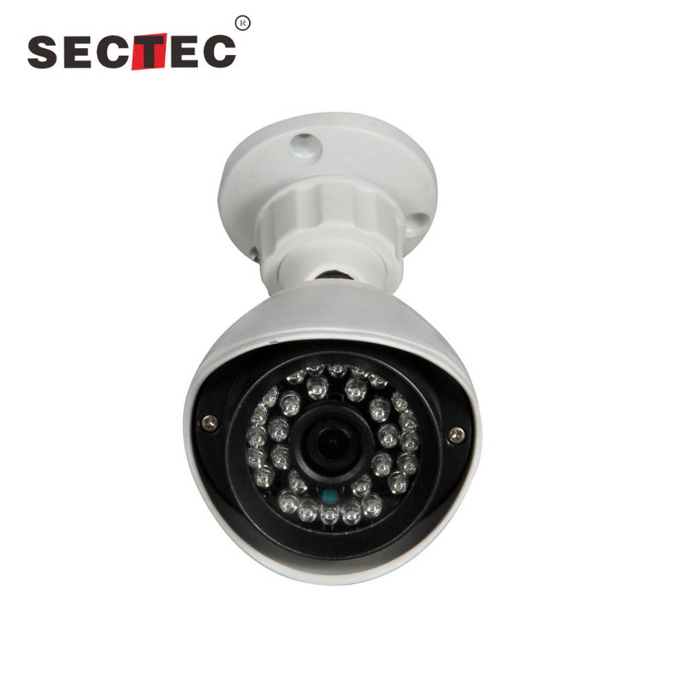 SECTEC 1.3mp starlight ip camera mini lux color in night IP66 bullet camera built-in POE