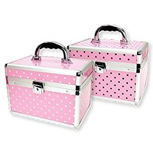 TZ Case Pink Beauty Collection Small Makeup Kit Beauty Case with 2 Extendable Trays AB-68PWD