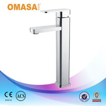 European Style Bathroom Basin Mixer Tall Square Faucet Plumbing ...