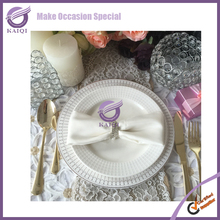 17772 Colored Edge Ceramic/porcelain charger plate wholesale for restaurant