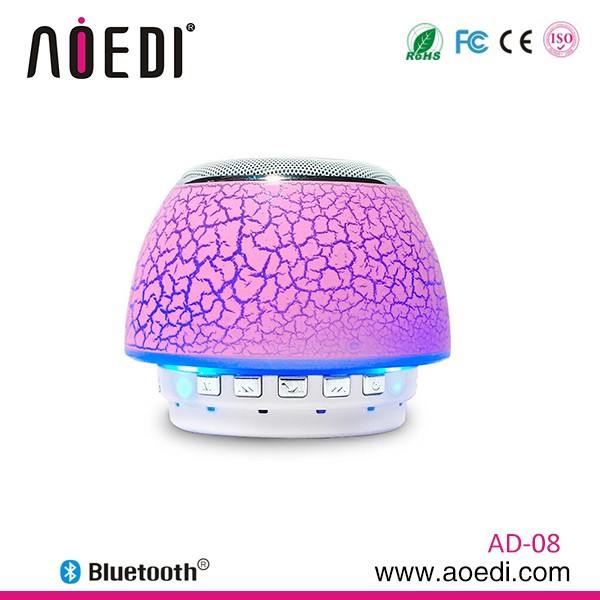 Mushroom mini speaker portable colorful led bluetooth speakers bedside lamp