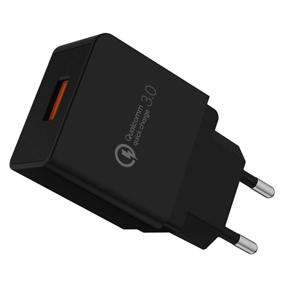 Top new product ideas 2019 factory wholesale wall chargers safety Qualcomm certificate QC 3.0 Quick Phone power adapter фото