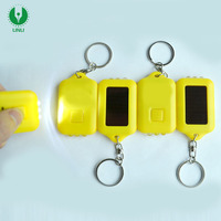Advertising Gift Rechargeable Solar Key Ring, High Quality Customized Logo Led Solar Keychain