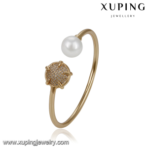 51778 XUPING wedding fancy pearl bangles jewelry for women