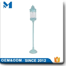Standing candle lantern,long-stemmed tall glass candle holder