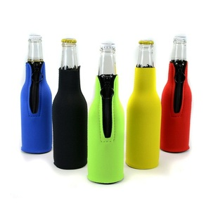 Insulated Neoprene Beer Bottle Cooler Sleeve Cover With Zipper