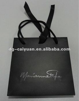 luxury silver paper bag with ribbon buy decorative paper bags
