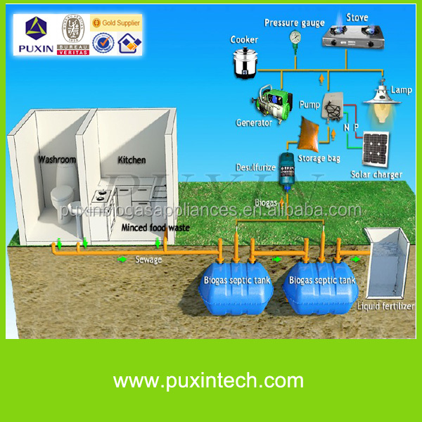 China Puxin Mini Biogas for Sewage Disposal Septic Tank