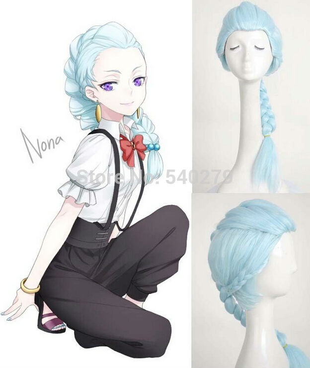 Buy Free Shipping Death Parade Nona Girls Cosplay Wigs Long Braid