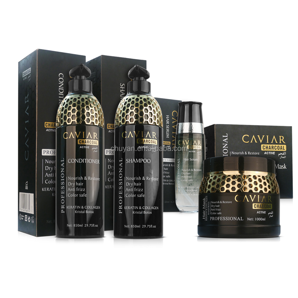 OEM/ODM 100ML Natural and healthy bio Caviar hair serum smoothing hair care