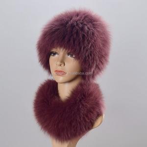 bdd492f6772 winter fox fur hat outdoor ski windbreaker protective ear cold warm fur hat  wind Mongolian Hat