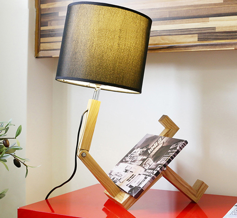 Flexible Wooden cloth healthy night reading study led lamp factory direct sale for dormitory