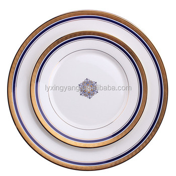 Vintage Bone China Plates With Gold Rim White Dinner Plate Rimmed