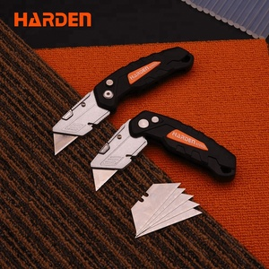 Wholesale Professional Custom Aluminum Alloy Handle 170mm Universal Folding Utility Knife with 5pcs Blade