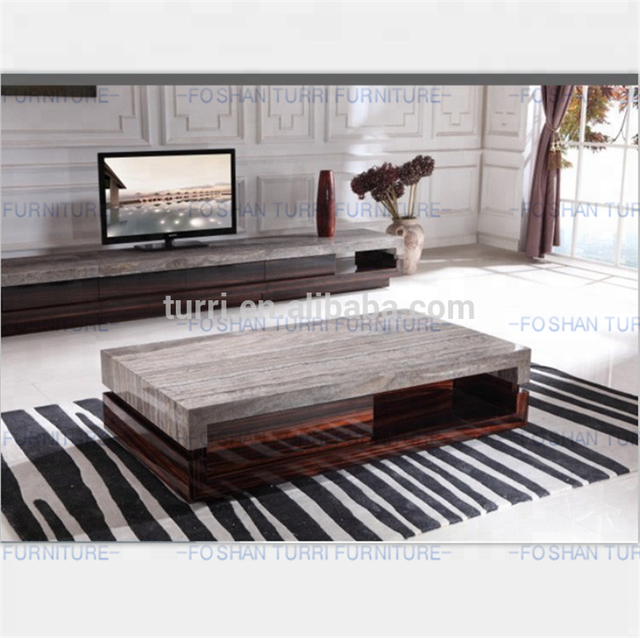 Modern Marble Top Wooden Center Table
