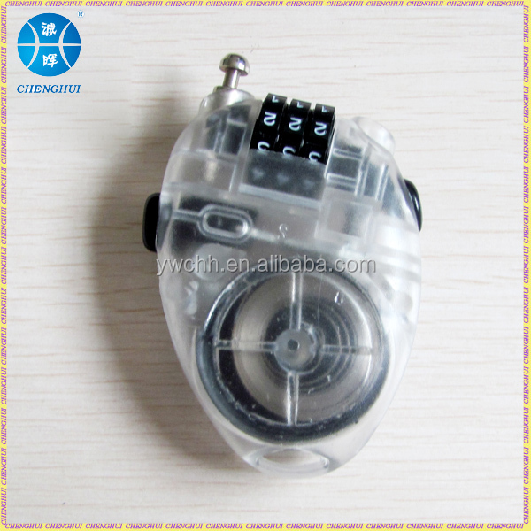 Resettable cable combination lock. bicycle cable lock