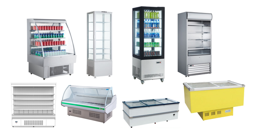1000L Supermarket Glass Door Drink Display Freezer With CE UL RoHS