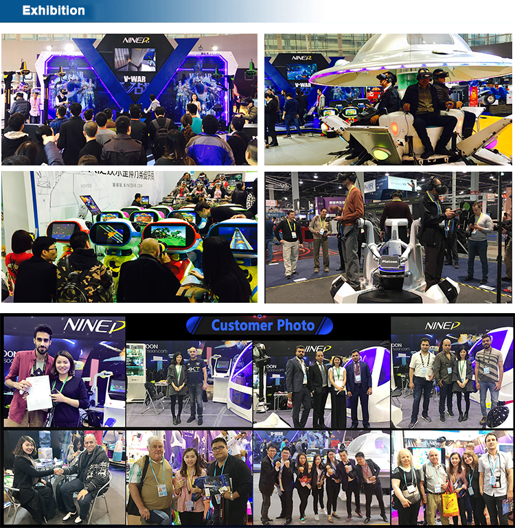 แฟรนไชส์โอกาสรับเงินเสมือนจริงสวนสนุก VR เดิน 4 9D VR ยืนแพลตฟอร์ม VR Space Walk