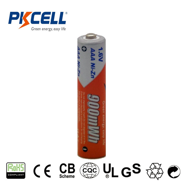 latest innovative electrical products of 1.6v small aaa rechargeable battery nizn 900mwh