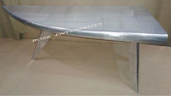 aviator furniture folding three stand aeroplane desk aviator silver writing table