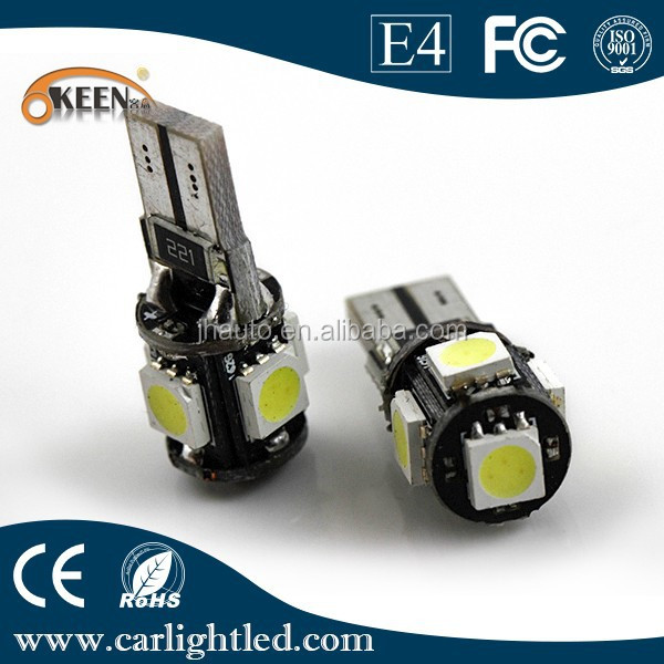 t10 canbus auto led licht auto lamp w5w 5 smd 5050 led. Black Bedroom Furniture Sets. Home Design Ideas