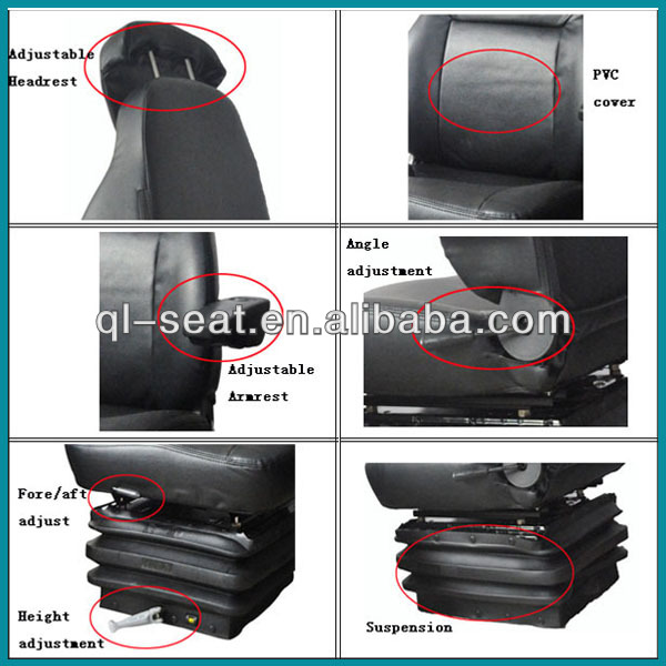 Comfortabele Heavy Duty Truck Driver Seat
