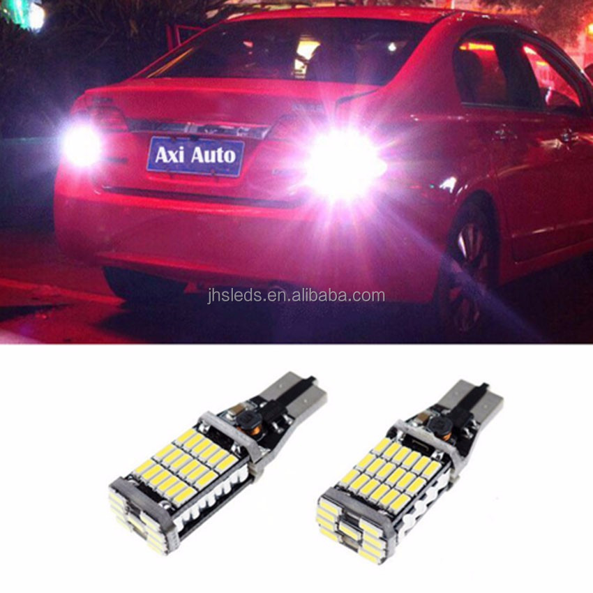 W16W Canbus No Free 4014 45SMD LED Reverse Lights T15 12V 921 912 Car Lamp  Parking