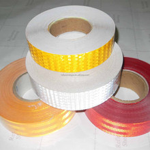LU Yellow Red White Prism Reflective vinyl sticker Tape Sheeting