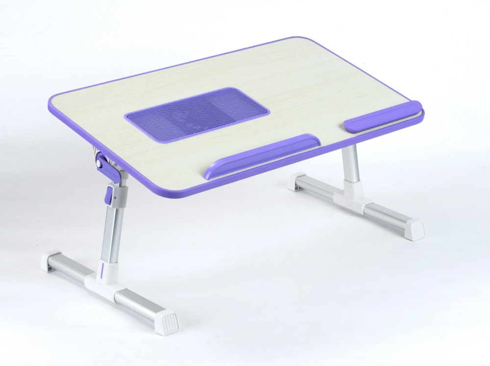 Madera bandeja de mesa para el ordenador port til de escritorio con ventilador de ventilaci n - Mesa para ordenador portatil ...