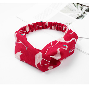 New design creative ideas fabric bird pattern cross headband Chinese factory direct sale light ladies headband