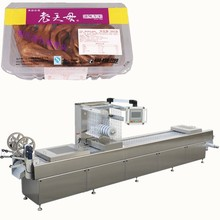 factory supply small rigid modified atmosphere thermoformer vacuum machine packaging for ready cooked food in plastic box
