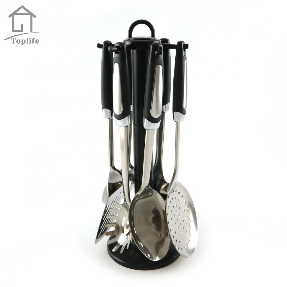 6pcs Kitchen Utensils Stainless Steel Cooking Serving
