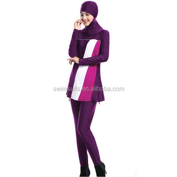 06e5a0d66b Islamic women modest swimsuit full covered Muslim Swimwear two piece bathing  suit with hijab cap