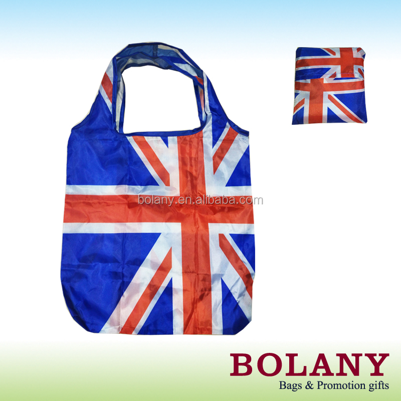 printed foldable nylon bag polyester shopping bag BO-PT026