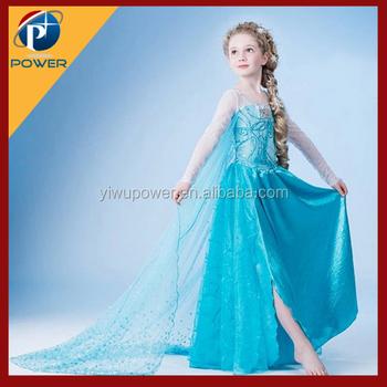 2015 Heißer Verkauf Kinder Prinzessin Kleid,Elsa Kleid Cosplayin ...