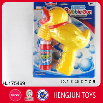 Wholesale automatic duck bubbles gun for summer promotion