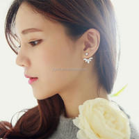Korean Leave Crystal Stud Earrings