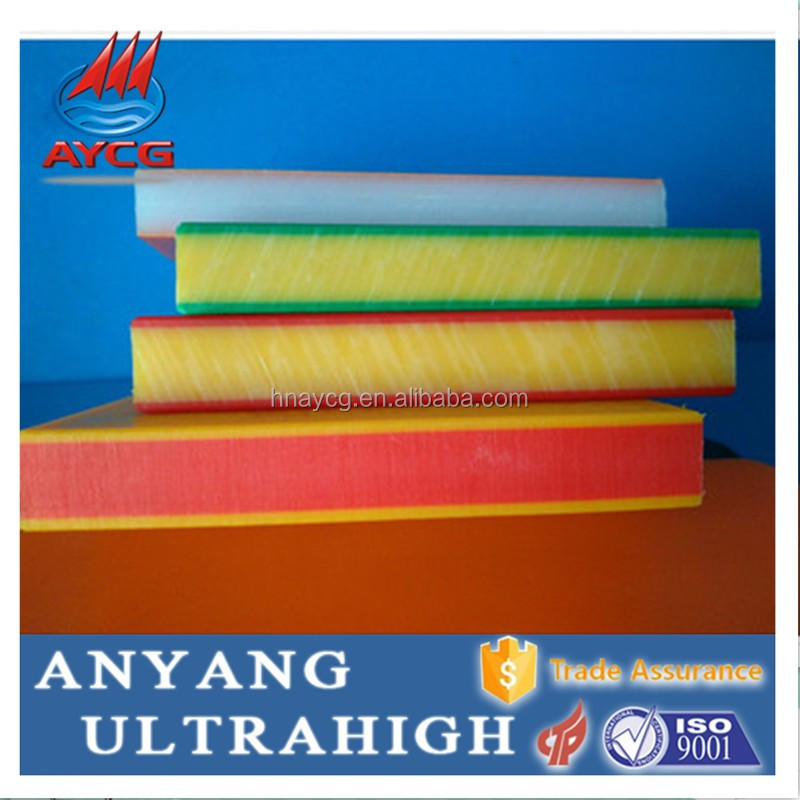 Anti-UV UHMW PE two color plastic sheet and multi-color hdpe sheet