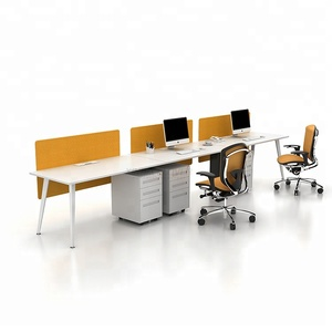 Cheap price general used metal frame furniture desk screen workstation white melamine modern office desk for staff office desks