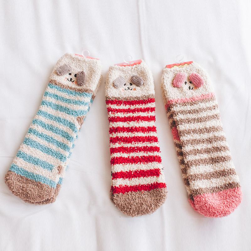 Women's Super Soft Microfiber Fuzzy Winter Warm Slipper Home Socks фото