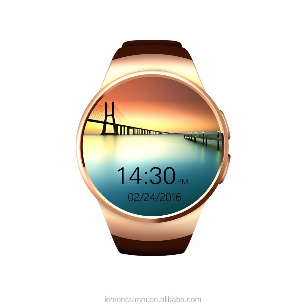 kw18 MTK2502C Bluetooth 4.0 Local MP3 Smart Watch