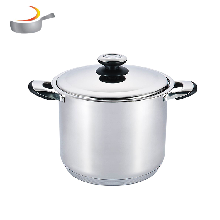 China big factory Die cast casserole stainless steel cookware set with double handle for walmart,METRO,GSW