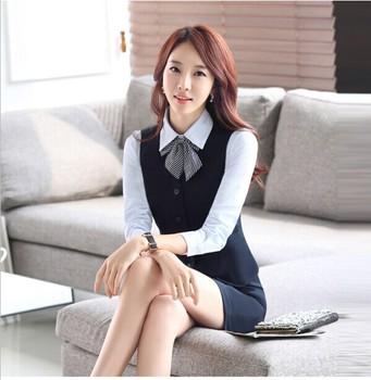 Vest Skirt Short Sleeves Female Ol Suit For Stewardess