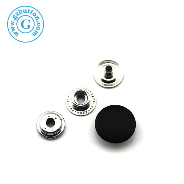 High quality decorative metal black clothing snaps buttons