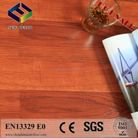 high quality high gloss yellow sandal wood laminate flooring