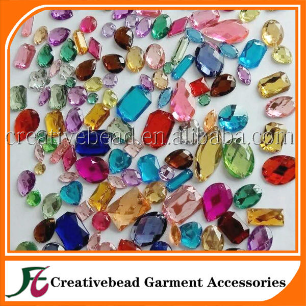 Wholesale not hot fix cheap loose beads acrylity natural stones decorate nails China accessory
