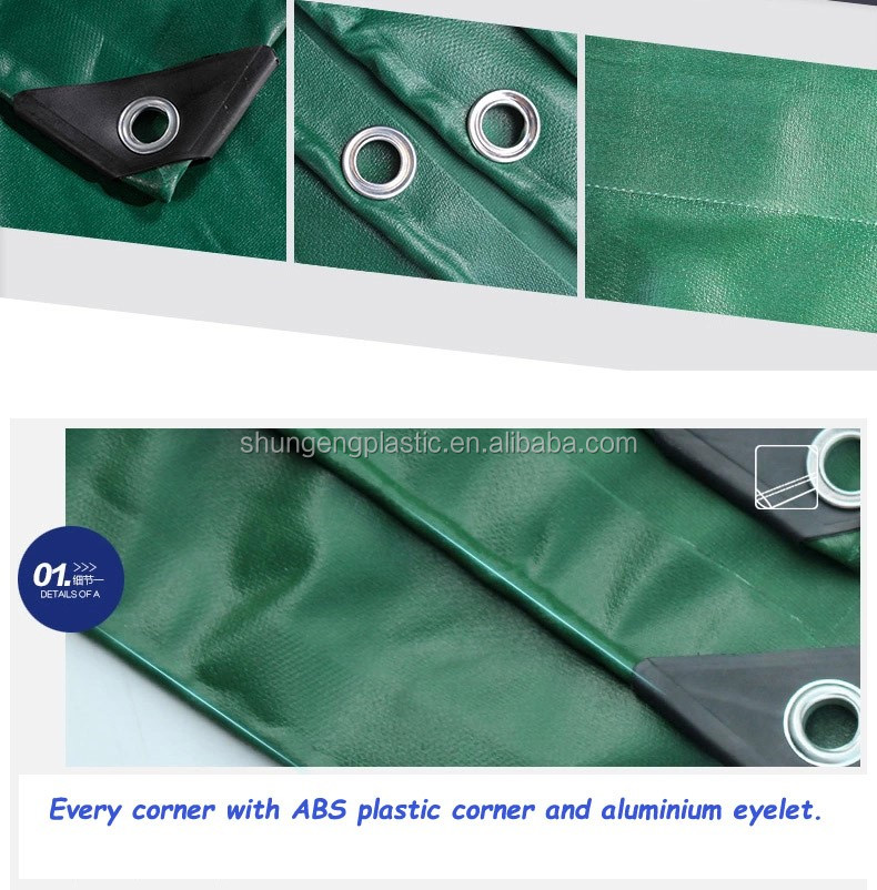 Middle East country and Pakistan 550gsm army green pvc tarpaulin products for hot weather resistance and tent tarpaulin