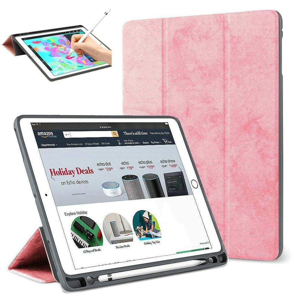 For <strong>iPad</strong> Pro 12.9 2018 Case Pencil Holder Slim Smart Cover Trifold Stand Auto Sleep/Wake Protective Case for <strong>iPad</strong> Pro 12.9